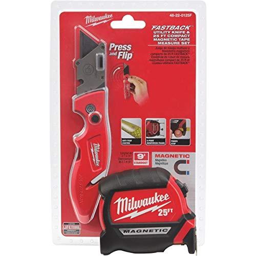 Milwaukee 48-22-0125F Tape Measure & Utility Knife Combo Tool Set