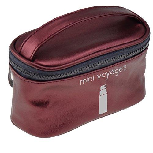 Incidence Paris 61830 Vanity Colorama Mini voyage H9 x 8 x 14,5 cm, Rouge (Bordeaux)