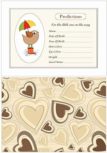Vogel Baby Voorspelling Kaarten - Pack van 20