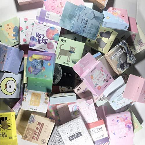 AXHZL Cute Cat Label Kawaii Diary Handmade Adhesive Paper Flake Japan Vintage Box Mini Sticker Scrapbooking Stationery