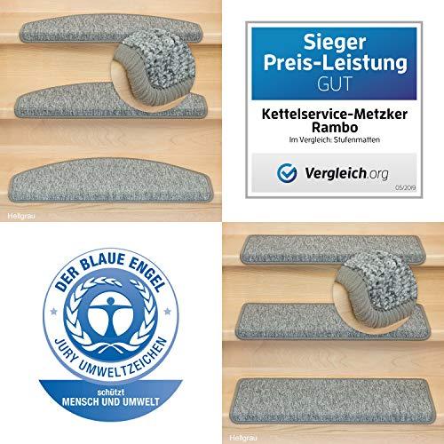 Kettelservice-Metzker Stufenmatten Monza im 15er SparSet Rechteckig Hellgrau