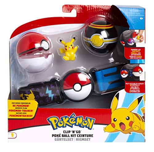 Pokemon Clip N Go Poke Ball Gürtel Set | Pikachu | Pokeball | LuxusBall