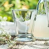 La Rochere 6X5132 Honigbienen-Wasserglas, 270 ml, Klarglas