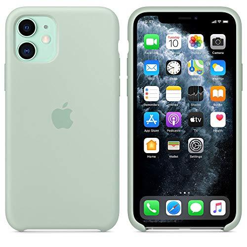 Funda Silicona para iPhone 11 Silicone Case, máxima Calidad, Textura Suave, Forro Interno Microfibra (Verde-berilo)