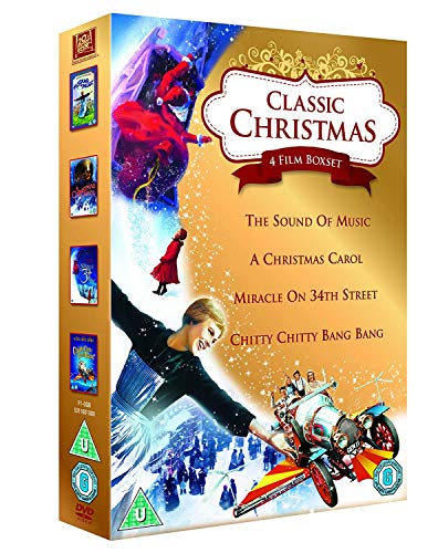 Classic Christmas 4 Film Collection: The Sound of Music, A Christmas Carol, Miracle on 34th Street & Chitty Chitty Bang Bang [DVD] [1965] by Julie Andrews