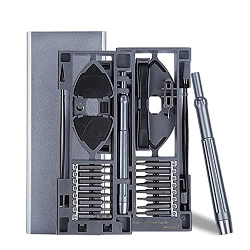 ZRNG Juego de Destornilladores de precisión Kit de Herramientas de reparación de teléfonos móviles 24 en 1 Torx bit Tornillo magnético Mange bit Herramientas DE Mano