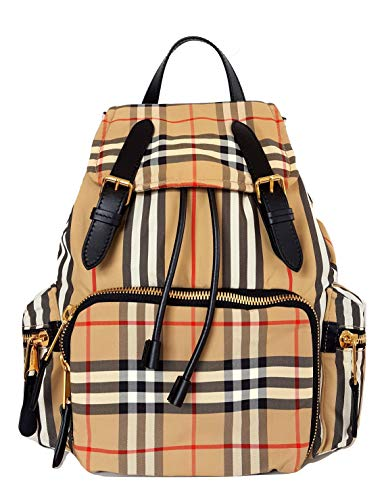 Burberry zaino The Rucksack medio con motivo archive beige 80151461