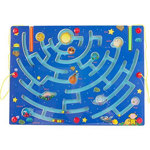 Wosiky Planet Pen Driving Maze Driving Maze Interactive Maze Leading Beads Maze Juego de Mesa para Tus Hijos Juego Educativo Regalo de Juguete
