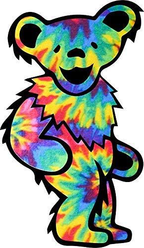 "MAGNET Tie Dye Dancing Bear Magnetic Car Sticker Decal Refrigerator Metal Magnet Vinyl 5"""