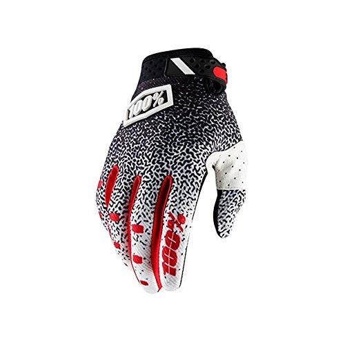 "100% Unisex-Adult Speedlab (10001-059-10)""RIDEFIT Glove Black/White-Small"