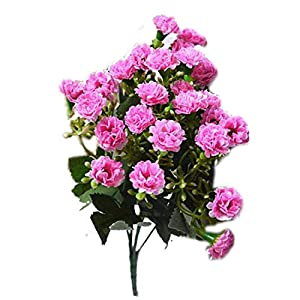 Bling-Bling Case Nice Artificial Silk Flowers Carnation 30 Buds Flowers 6 Branches 1 Bouquet Mother Lilac Flower Craft for Wedding Home Party