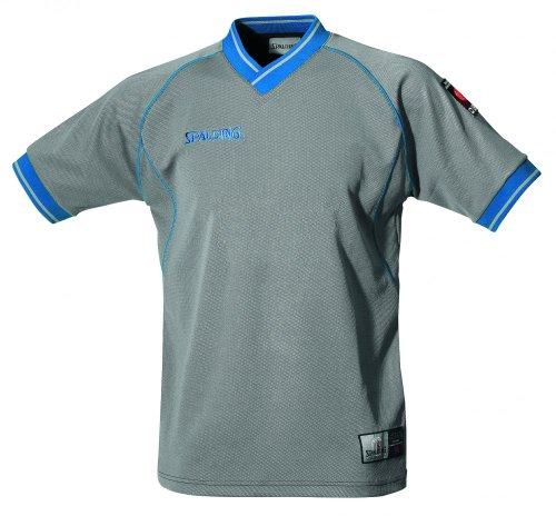 Spalding Referee Shirt Camiseta De Árbitro, Hombre, Gris/Azul Royal, M