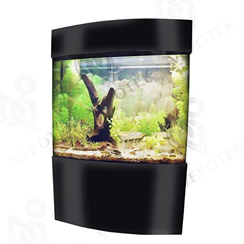 Vepotek 60-Gallon Acrylic Bowfront Aquarium Fish Tank