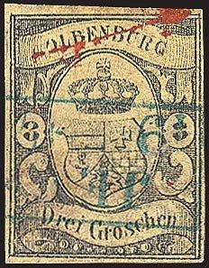Goldhahn Oldenburg Nr. 8 gestempelt Briefmarken für Sammler