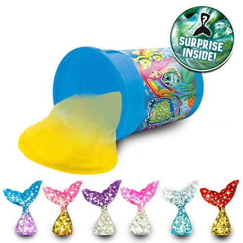 CRAZE 20432 MAGIC SLIME MERMAID Magischer Kinderschleim Meerjungfrau Spielzeug Schleim Glibber Clay 150 ml Dose 6 Farben