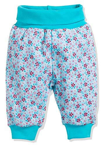 Schnizler Baby-Pumphose Interlock Blumendruck Legging, Turquoise (Turquoise 15), 2-3 Ans (Taille Fabricant:98) Mixte bébé
