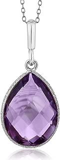 Best silver gem necklace Reviews
