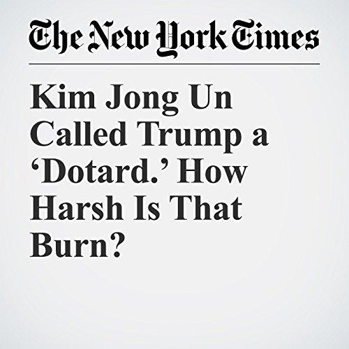 Kim Jong Un Called Trump a 'Dotard.' How Harsh Is That Burn? copertina