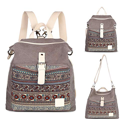 Backpack Purse Women Girls Canvas Backpack/Rucksack Convertible Shoulder bag Casual Daypack