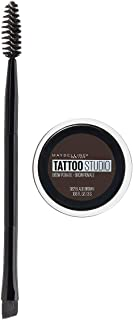 Maybelline New York Tattoostudio Brow Pomade Long Lasting, Buildable, Eyebrow Makeup, Black Brown, 0.106 Ounce