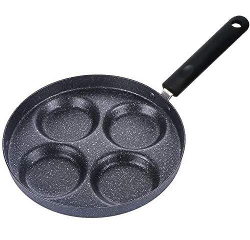 FANDE Pfanne, 4 Stück, Pfannkuchen für Gaskocher und Herd, aus Aluminiumlegierung, Antihaftbeschichtung, multifunktional, langer Griff, für Eier, Pfannkuchen, Grillpfannen – 24 cm