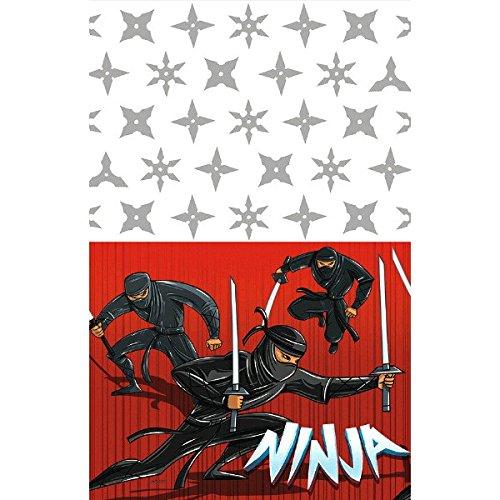 amscan 571587Tischdecke, Ninja-Motiv, Kunststoff, 1,3x 2,59m