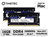 Timetec Hynix IC 16GB KIT(2x8GB) Compatible for Apple 2017 iMac 27-inch w/Retina 5K Display, 2017 iMac 21.5-inch w/Retina 4K or Non-Retina Display DDR4 2400MHz PC4-19200 CL17 SODIMM (16GB KIT(2x8GB))