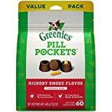 GREENIES PILL POCKETS for Dogs Capsule Size Natural Soft Dog Treats, Hickory Smoke Flavor, 15.8 oz. Pack (60 Treats)