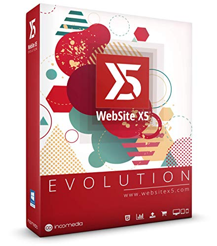 WebSite X5 Evolution - Neueste Version Professionelle Websites, Onlineshops, Blogs, Sonderedition mit WebAnimator go, in brandneuer Box für Windows 10 / 8 / 7