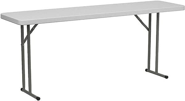 Flash Furniture 18 X 72 Plastic Folding Training Table White 4 Pack