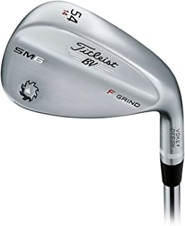 Titleist Vokey SM6 Tour Chrome Wedge Right 54 14 F Grind True Temper Dynamic Gold Wedge