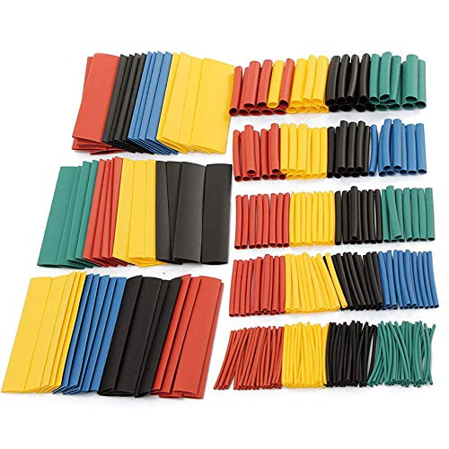 MCIGICM 328 pcs Heat Shrink Tubing 2:1, Waterproof Electrical Wire Cable Wrap Assortment Electric Insulation Heat Shrink Tube Kit (8 Sizes, 4 Color)