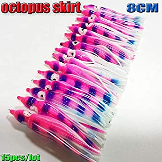 2018NEW Fishing Lure Octopus Skirts Soft Squid Skirts Lure 8CM/10.5CM 16colors Choose : Black