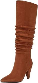 Zanpa Women Fashion Knee High Boots Cone Heels