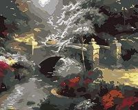 ナンバーペインティングプレスによるDiyペイントデジタルアクリルペイントキット大人の初心者キャンバス油絵ギフト子供たちの家の装飾抽象的なアーチ橋