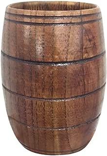 Dergo ☀Tea Cup Small Handmade Natural Solid Wood Tea Cup Wooden Wine Coffee Water Drinking Mug (F)