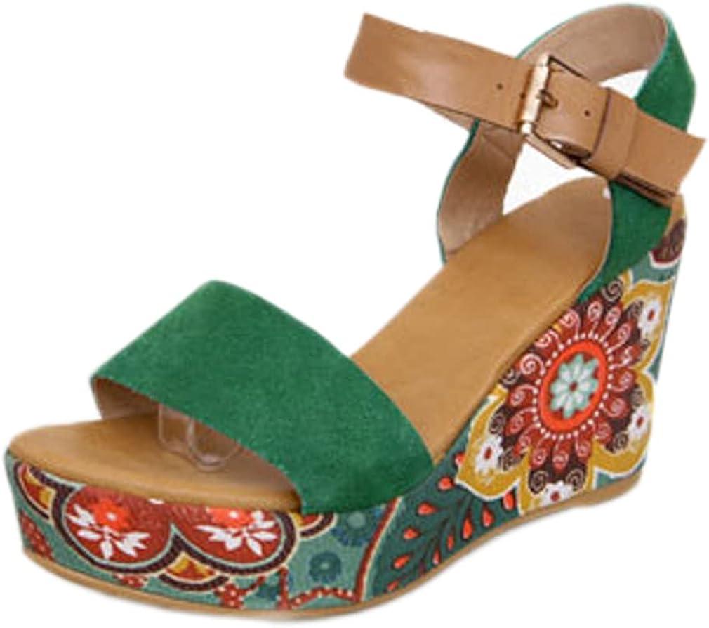 heelchic Women Suede Open Toe Platform Wedge Sandals Dress Sexy Wedding High Heeled Sandals