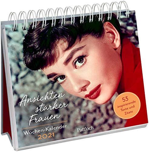 Ansichten starker Frauen Wochen-Kalender 2021: zum Aufstellen m. Illustrationen u. Zitaten, inspirierende Texte auf d. Rückseiten, Spiralbindung, 16,6 x 15,8 cm