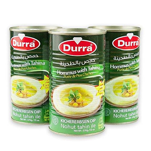 Durra Hummus bi Tahina Arabisches Kichererbsenpüree 3er Pack 3 x 370 g
