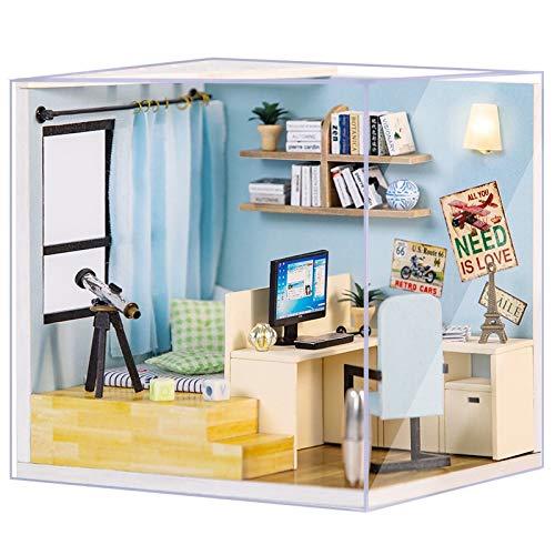 No-branded - Casa de muñecas en miniatura Dollhouse - Muebles 3D de madera para niños - Regalo de cumpleaños ZHQHYQHX (Color: ZM13, tamaño: Libre)