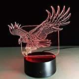 3D Adler Lampe USB Power 7 Farben Amazing Optical Illusion 3D LED Lampe Formen Kinder Schlafzimmer Nacht Licht