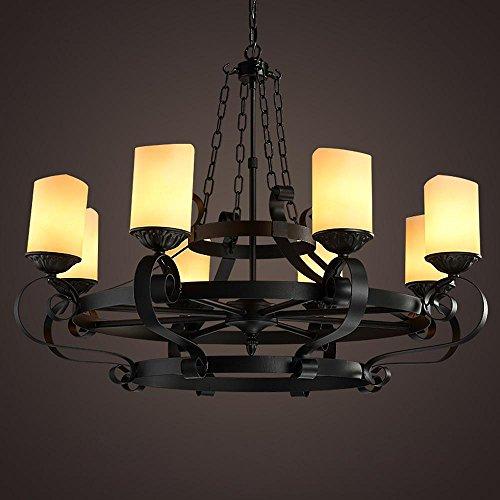 Xbzz, Retro-Industrie Lampe (verstellbare Kette enthalten keine Lichtquellen) Retro-Messing Kronleuchter L?ster Wand Beleuchtung Glas Lampenschirm