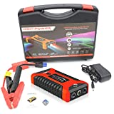 12V 602A LED Car Jump Starter, Portable Emergency Charger Battery Power Bank Car Booster Starting Device Waterproof, for Instant Power To Car SUV Motorcycle
