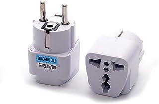 Universal 40pcs Germany Korea EU AC Power Plug Adapter US/AU/UK to DE KR Plug Socket Converter Travel Plug