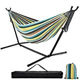 Double Hammock with Stand, 10ft Hammock Frame...