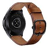 ANYE Correa de Cuero Huawei Watch GT 2 46mm Piel,Correas 22mm Cuero Reloj Samsung Gear S3 Frontier/Classic Pulsera para Samsung Galaxy Watch 46mm,Correas de Repuesto Samsung Galaxy Watch 3 45mm