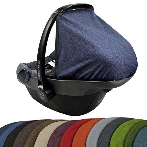 BAMBINIWELT zonnescherm UV50+ voor Maxi-Cosi PEBBLE gemêleerd marineblauw