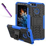 COTDINFORCA Case for Huawei Honor 7X Tyre Pattern Design Heavy Duty Tough Protection Case with Kickstand Shock Absorbing Detachable 2 in 1 Case Cover for Huawei Mate SE/Huawei Honor 7X. Hyun Blue