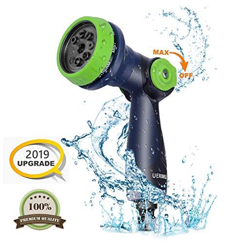 Tuinslang Spuitpistool, 8-patroon, multispuitpistool, hogedrukslangsproeier, duimschakelaar, perfect voor gazon/tuingereedschap, auto wassen, huisdier douchen en opruimen