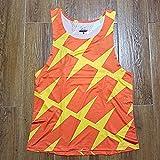 JFTMY Chaleco de Verano para Hombre Street Race Hombre Traje de Velocidad de Carrera rápida Traje de una Pieza Camiseta de Campo de Atleta de Atleta (Color : Orange, Size : Lcode)